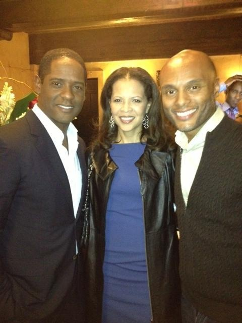 Kenny Lattimore, Blair Underwood and wife at the Pasadena Playhouse for Intimate Apparel opening night!