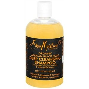 Shea Moisture African Black Soap Shampoo available at Target, Walgreen's, Wal-Mart, and Duane Reade for $9.99