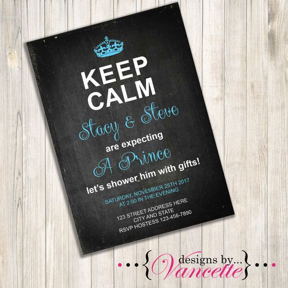 Keep Calm Baby Shower Invite by designsbyVancette on Etsy