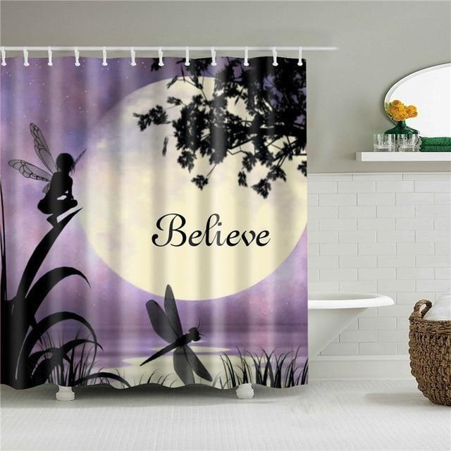 Believe Fabric Shower Curtain In 2020 Shower Curtain Art Fabric
