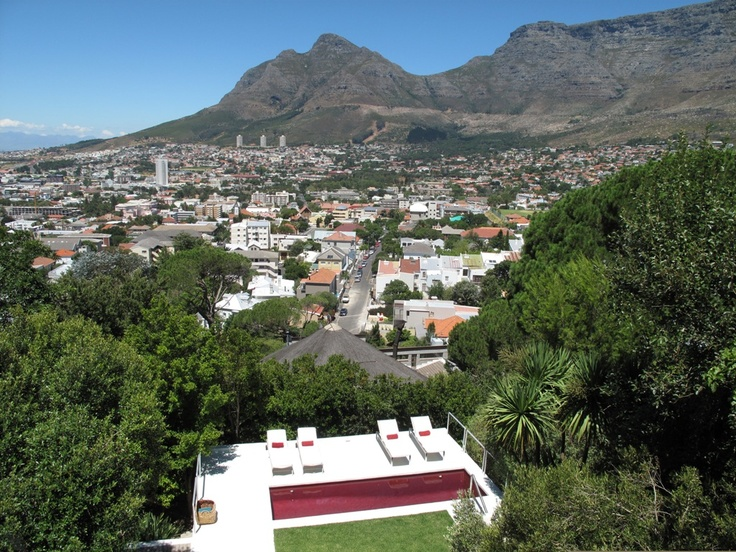 View from one of the rooms of Boutique Manolo hotel Cape Town.