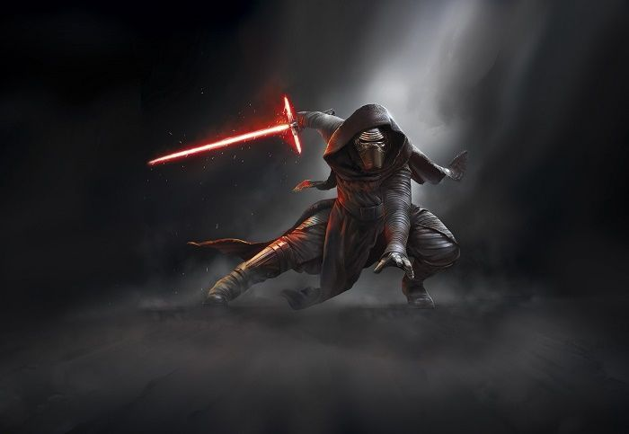 Giant size Star Wars Kylo Ren paper wallpaper. Amazing decoration idea wall mural photo wallpaper for home interior walls. Living room or bedroom. Express sipping available.