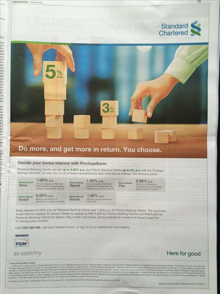 Standard Charter Malaysia Ads Bank Banks Ads Personalized
