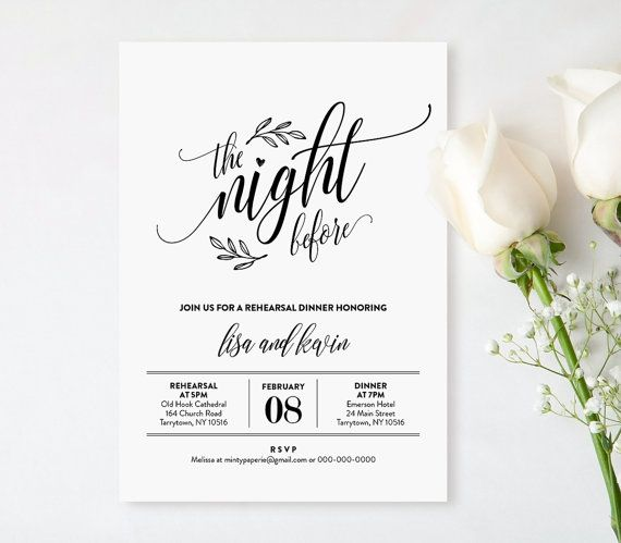 Best  Wedding Rehearsal Invitations Ideas On   Dinner