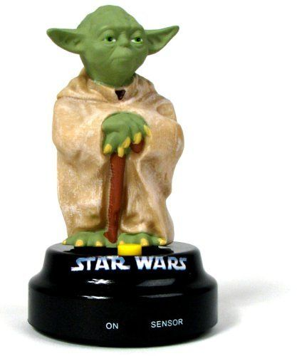 Star Wars Dashboard Driver Yoda by Sunstar Industries. $64.99. The Star Wars Talking Yoda measures approximately 12.5 cm x 7 cm. The Star Wars Talking Yoda features a hook; loop and sticky tape so you can stick him to your dashboard and let the force surround you whilst you're cruising the streets!. The Star Wars Talking Yoda is a remarkably detailed and accurate miniature Star Wars Yoda figurine that will sit proudly on your dashboard or desktop and spout out a...