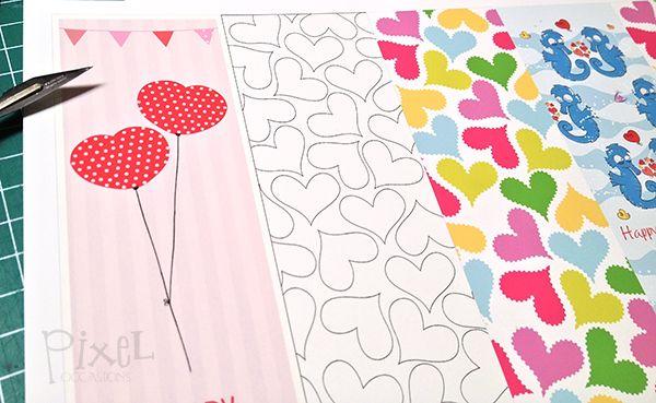 Valentines Day Candy Heart Bookmarks - No Wording #pixeloccasions - valentine printables #valentineprintables