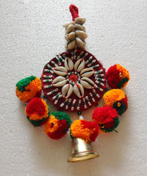 Banjara Tassel With Shells and PomPoms  Truly by uDazzleSupplies,