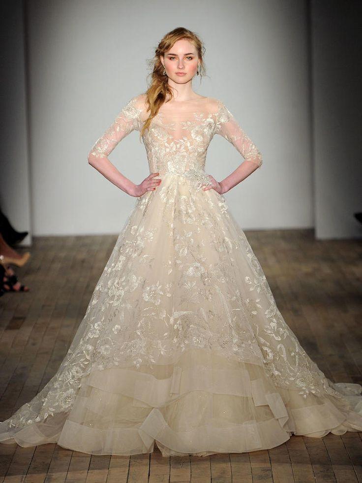 702 best wedding fashion images on pinterest wedding for Lazaro a line wedding dress