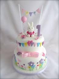 Best Girls St Birthday Party Images On Pinterest St - 1st girl birthday cake