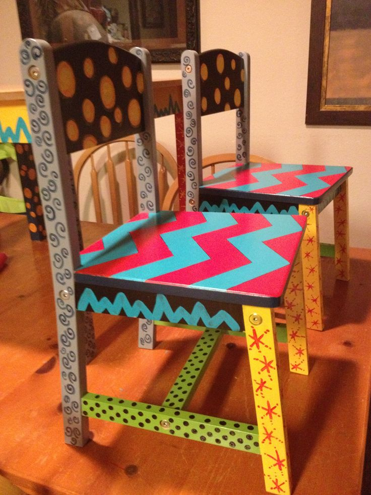 Hand Painted Kid Chairs I Did For A Teacher Friend!