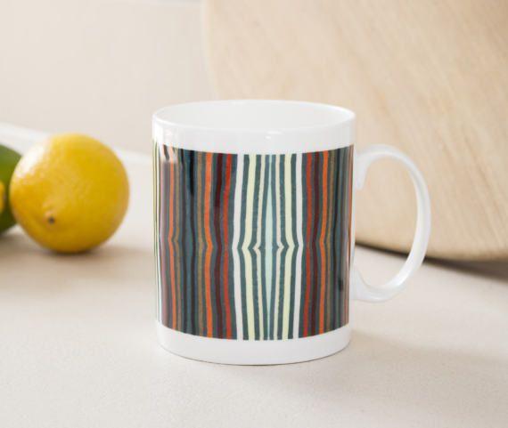 Stripe mug smith stripe mug multicolour mug by DoodlePippin