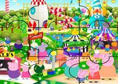 JuegosdePeppa.com - Juego: Rompecabezas Parque de Atracciones Puzzles de Dibujos Online Juegos Peppa Gratis Online