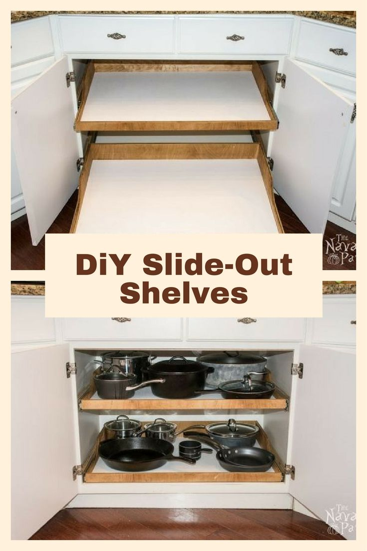 DiY Slide-Out Shelves - A husband and wife want more kitchen cabinet space, but instead of simply decluttering they do THIS!