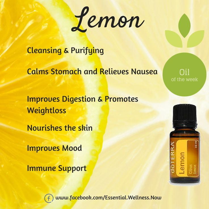 Lemon Essential Oil  Health & Wellness