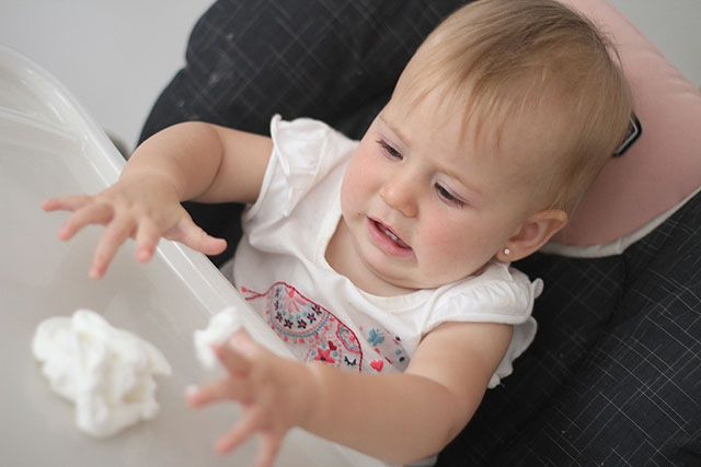 Edible Finger Painting for Babies
