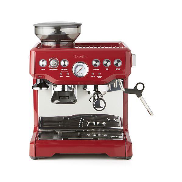http://www.idecz.com/category/Espresso-Machine/ Breville ® Red Barista Express ™ Espresso Machine    Crate and Barrel