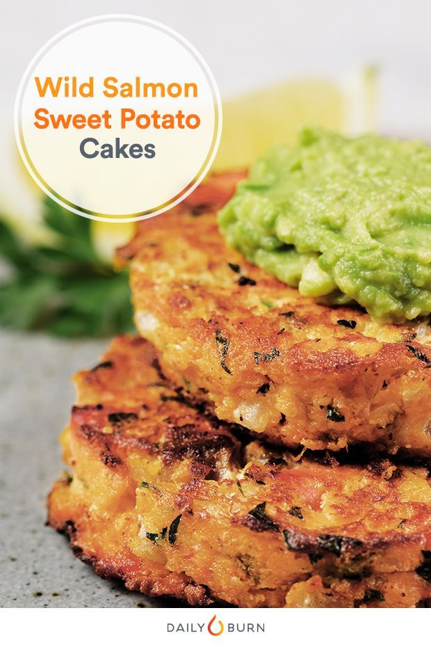 Skip the breadcrumb fillers. These savory salmon cakes from the Run Fast. Eat Slow. cookbook are made with nutrient-dense sweet potatoes.    via @dailyburn