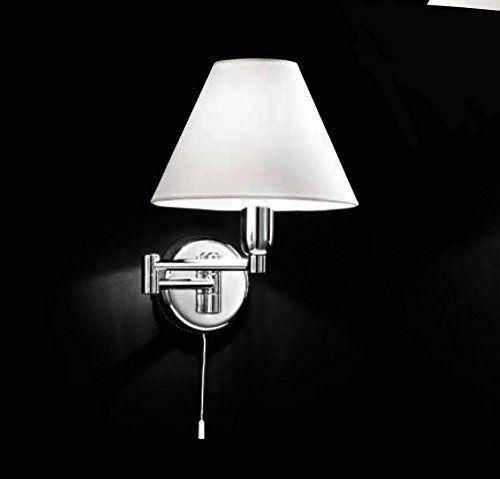 Lampada Applique Con Braccetto Snodabile In Metallo Cromo Lucido Dimensioni Lunghezza Totale 33 Cm Altezza 25 Cm Lampadina 1 Xe14 Max.40W Applique Da Parete Perenz 4016Cl