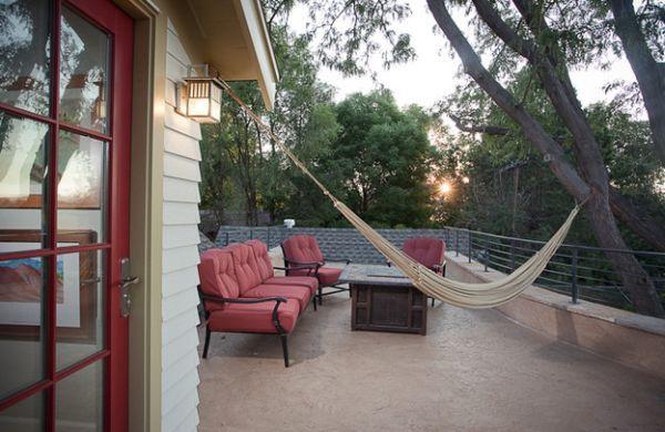 Modern hammock ideas red couch terrace