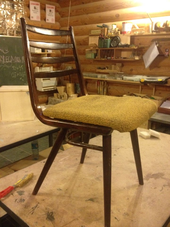 My new challange to renovate - chair by Jitona Sobeslav (Czechoslovakia)