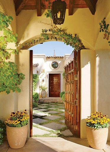 gorgeous door and courtyard