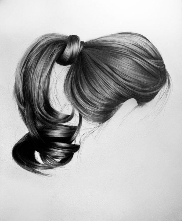 Brittany Scholl domina de sobra la técnica del lápiz de grafito solo hay que ver el cabello en general y el extremado detalle de pelo a pelo.