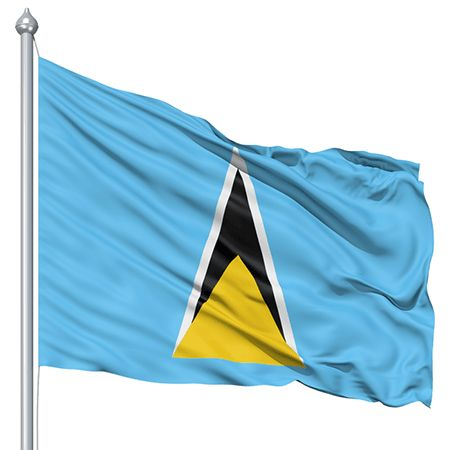 St. Lucia Flag colors - St. Lucia Flag meaning history