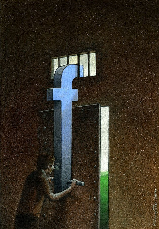 Poignant Art About Facebook By Pawel Kuczynski