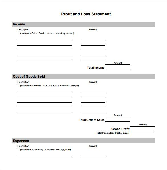 Profit And Loss Statement Simple An Income Statement Is A Financial