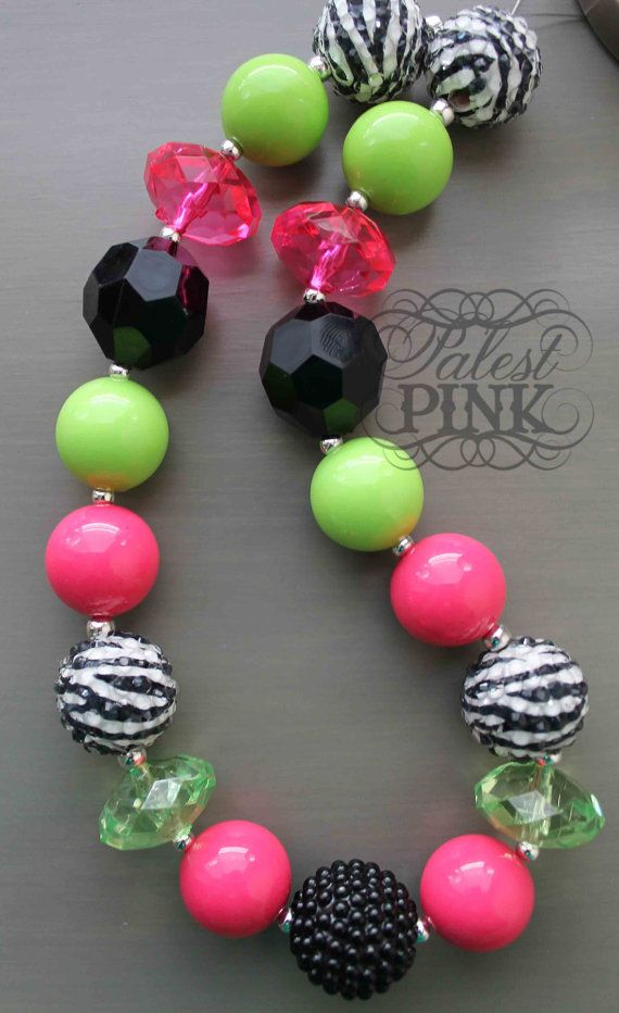 Wild Neon Necklace by PalestPink on Etsy, $30.00 pretty little girl jewelry