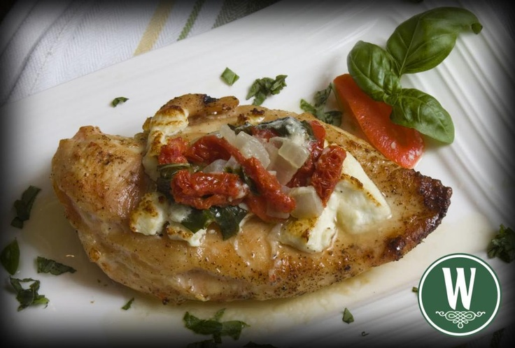 chicken breast on plate amp top with scoop of butter amp goat cheese ...