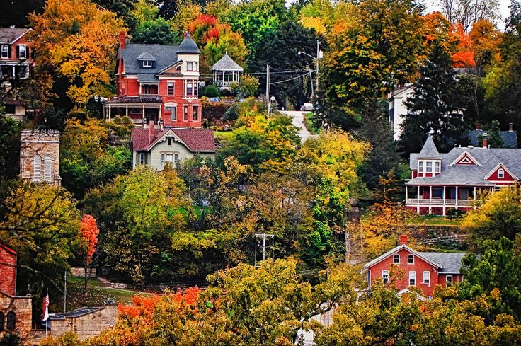 With only a population of 3,429, Galena counts itself as home to President Ulysses S. Grant and eight other Civil War generals.   - CountryLiving.com