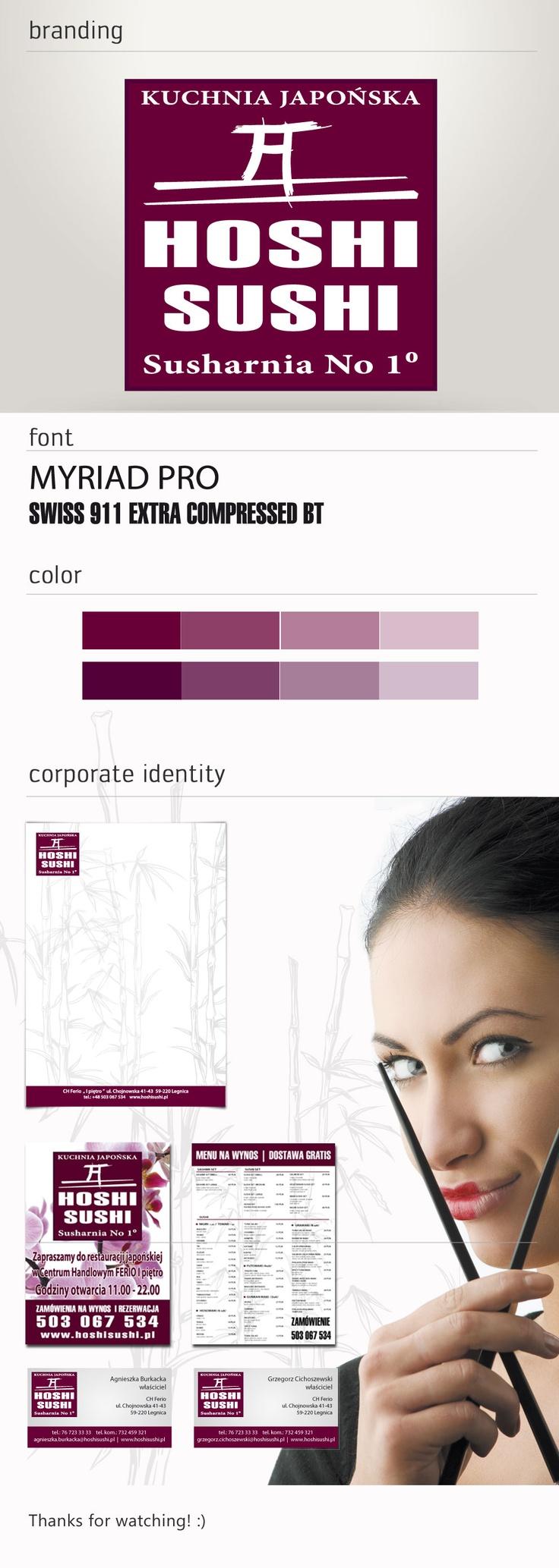 Corporate identity Hoshi-Sushi.