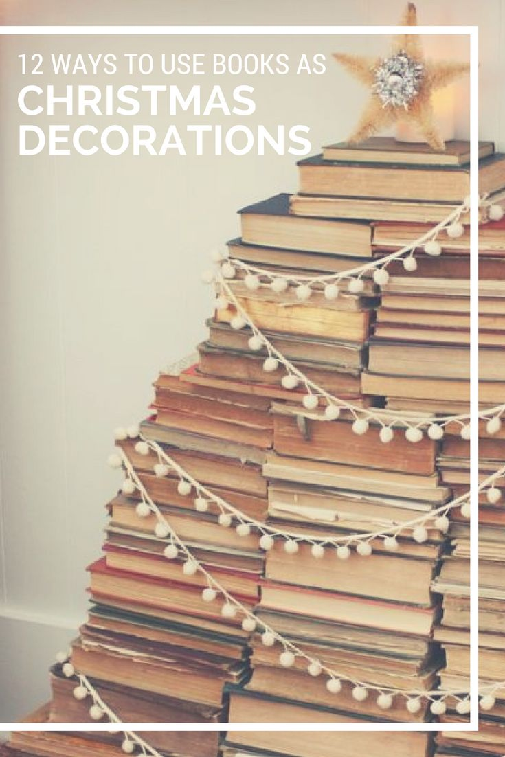 Click for 12 Christmas decorating ideas for bookworms. Featuring bookcase decorations, DIY decorations, bookcase decorating ideas, book display ideas for libraries, and more. #christmasdecoratingideas