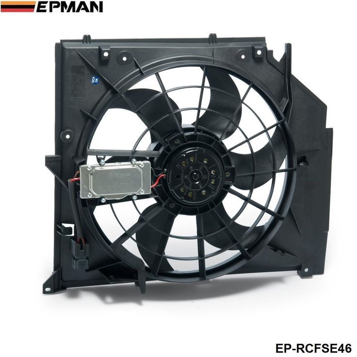 81.00$  Watch now - http://aliden.worldwells.pw/go.php?t=32692961125 - EPMAN -Radiator Cooling Fan Assembly (Brushless Motor) For BMW E46 325i 328i 330i EP-RCFSE46