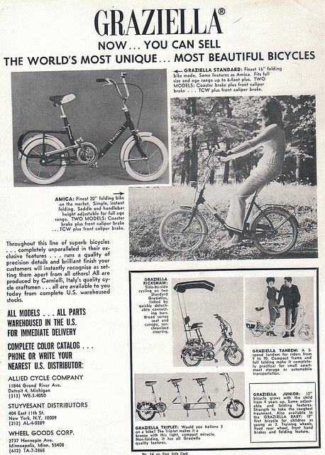 1969 Graziella Italian bicycles