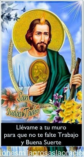 Oración al morralito de san Judas Tadeo para buena suerte en los Negocios Oración para que no te falte casa, vestido y sustento Por la vi