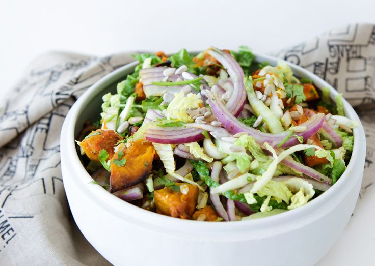 Roast Pumpkin and Chinese Cabbage Salad