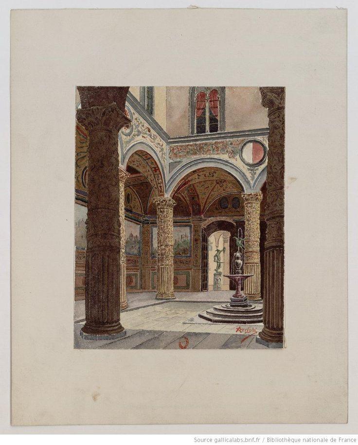 Interno di Palazzo Vecchio. Firenze : [peinture] / Arrighi