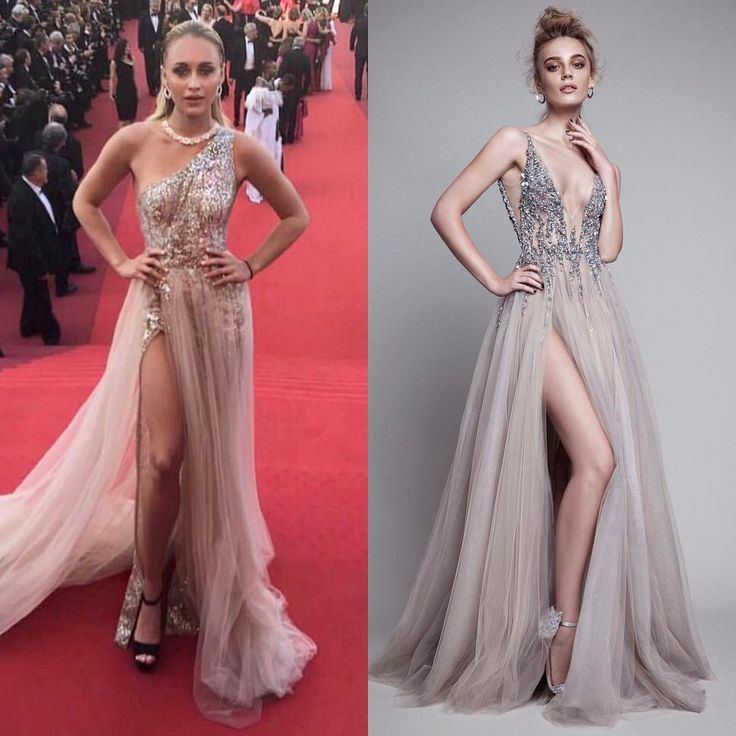 """Beauty Lee Levii in a stuns in a glittering Berta Couture gown at the 2017 Cannes Film Festival red carpet! Get the glamorous inspired style """"17-11"""" deep V-neck beaded bodice featuring pleated tulle skirt with high slits from Berta 2017 RTW Collection! Available soon only at Belle & Tulle in Singapore! @bertabridal #bertabridal #bertabride #bertagown #bertadress #couture #bertacouture #beaded #embellished #eveninggown #eveningdress #rtw @lee_levii #celebritystyle #redcarpet #cannes…"""