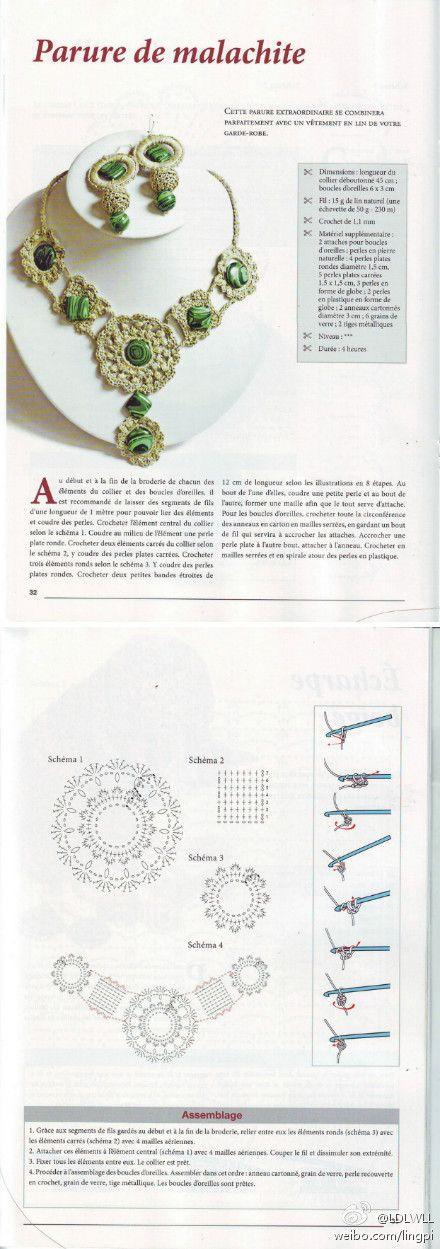 jewelry set - lovely crochet