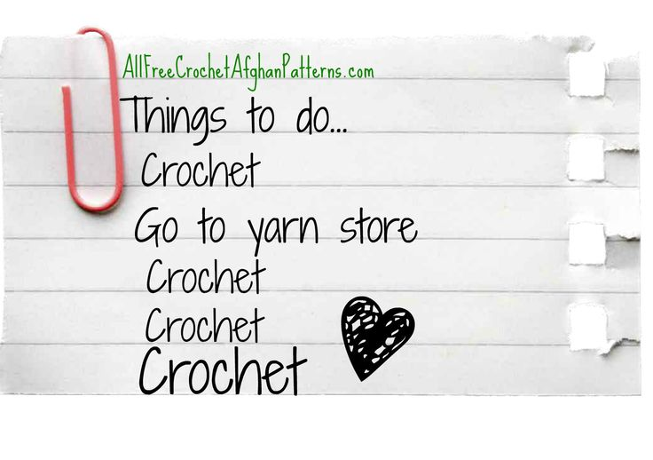 Crochet Humor - Yes, this is how my to do list looks. (I wish)