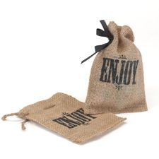 Burlap Favor Bag - Enjoy