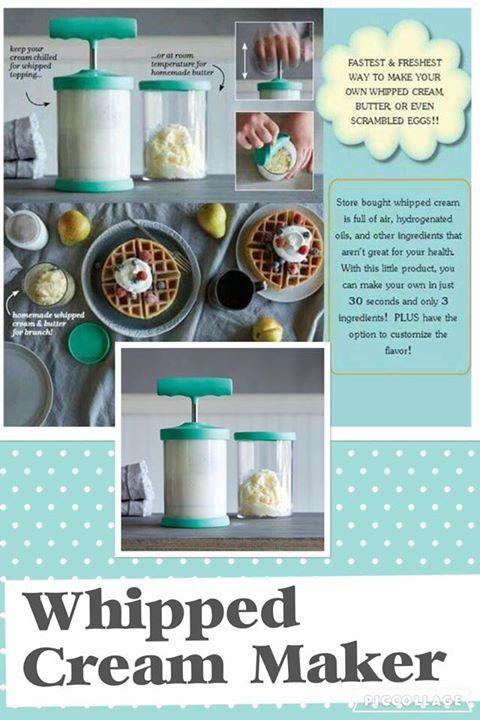Whipped Cream Maker...whip cream (count milk for dairy free whip cream ...