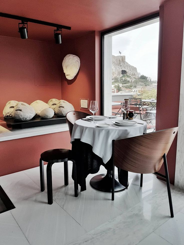 Table for two at the Modern Rooftop Dining
