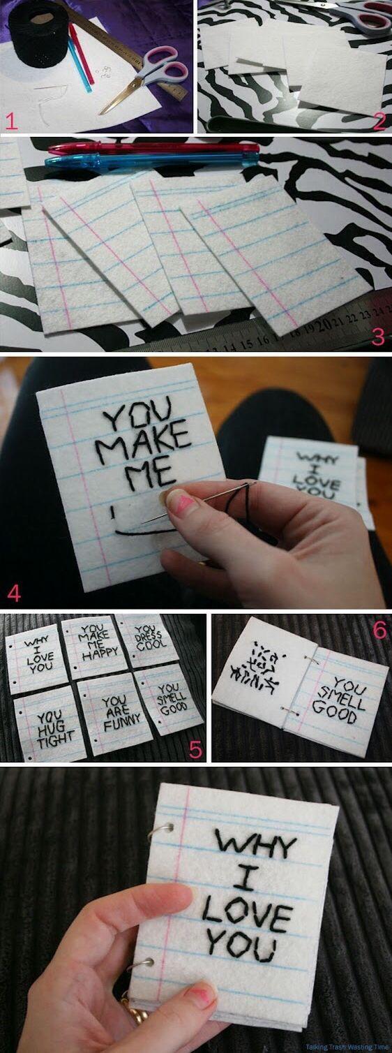 Cute diy felt mini book
