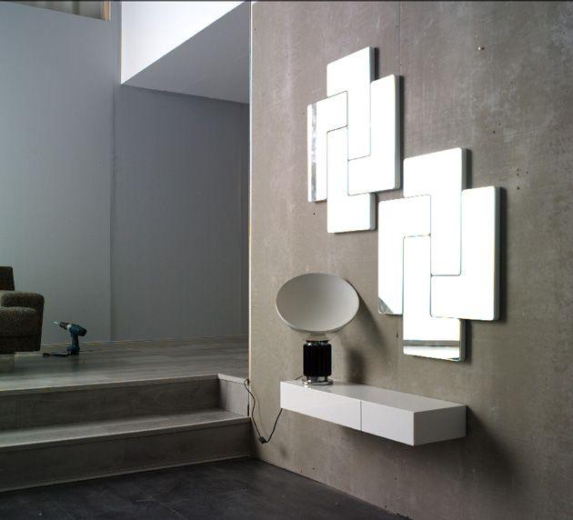 espejos de diseo moderno tetris espejos y consolas de madera