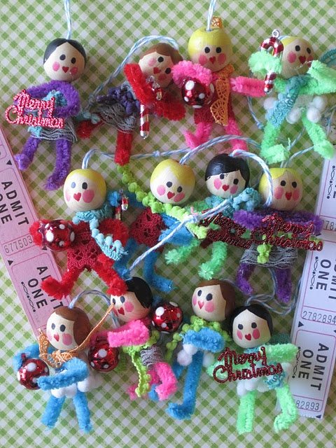pipe cleaner doll ornaments