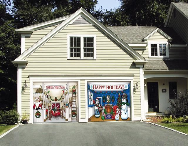 roll up garage christmas decor ideas - 1000 images about Garage Door Decorations on Pinterest