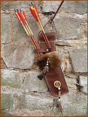 Schöner Pfeilköcher Holsterköcher echt Leder in Handarbeit gefertigt handgenäht  | eBay